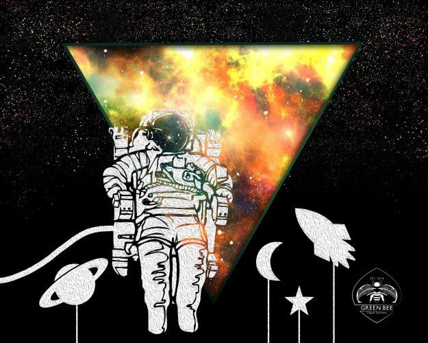 Spaceman photo illustration